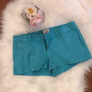 Mossimo Low Rise Aqua Shorts